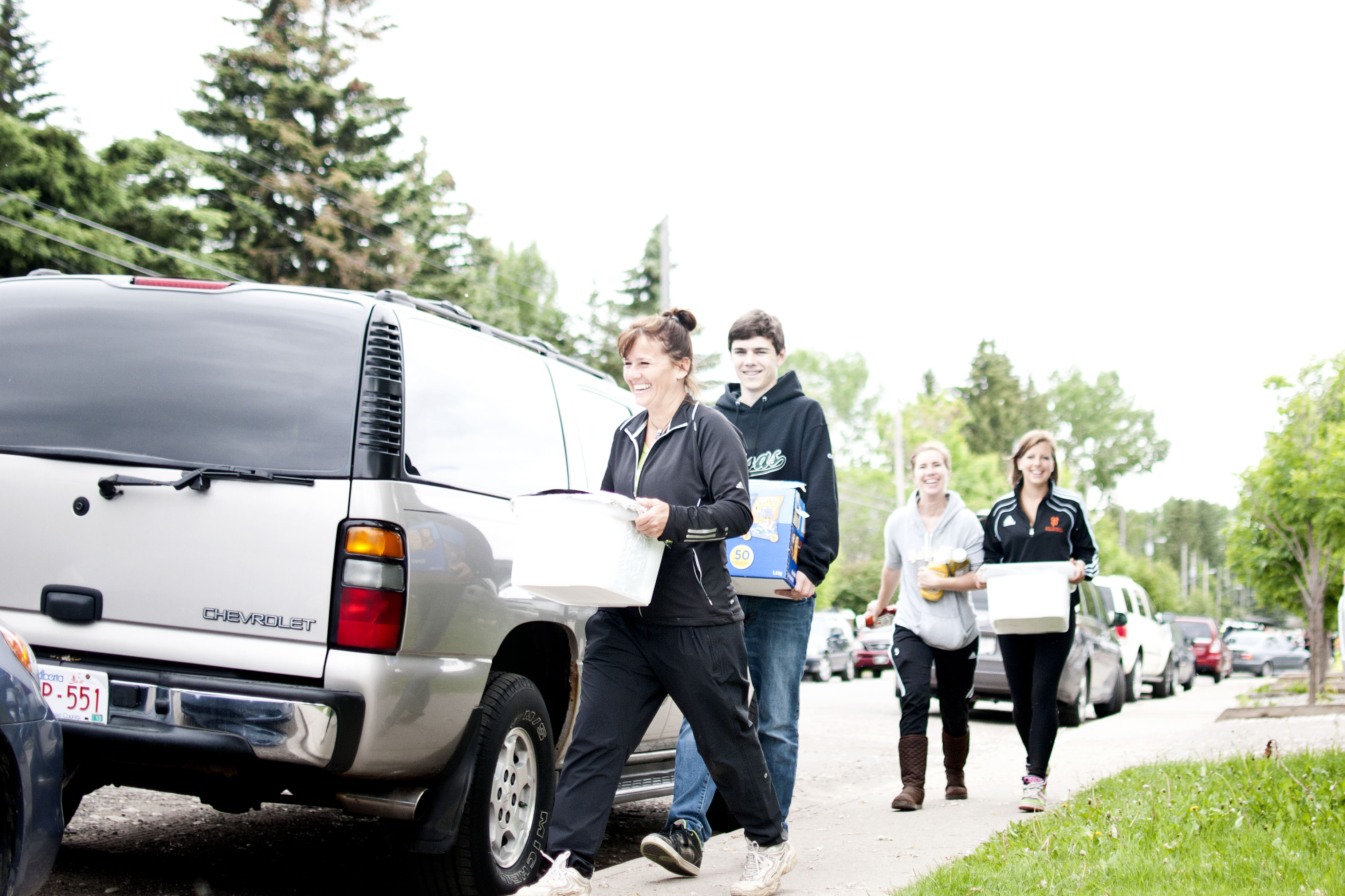 Volunteers bring supplies to residents of Bowness.